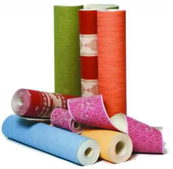 типы обоев текстильные