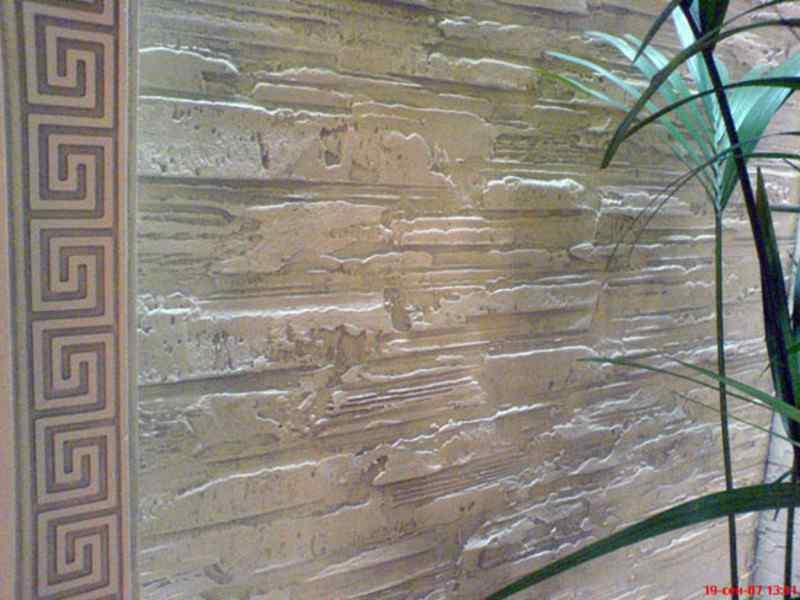 Фактурная штукатурка стен