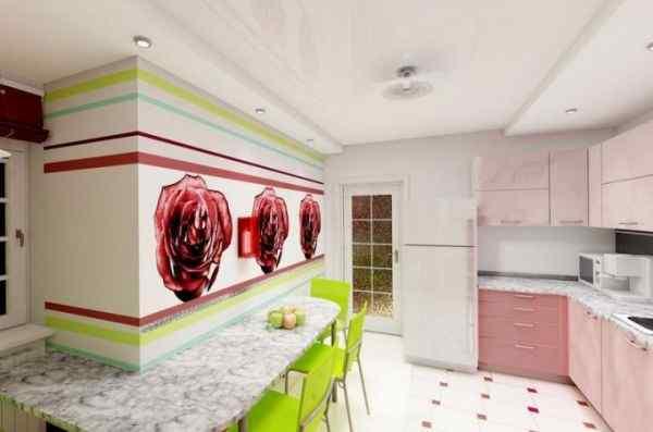 Фото кухни в стиле Поп — Арт