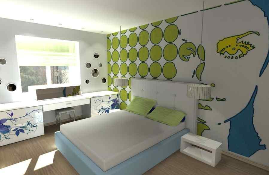 Фото спальни в стиле Поп - Арт