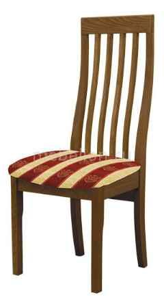 Купить Мебель Трия Стул Вагнер Т1 СМ-231.2.001 орех/бежевый в бордовую полоску