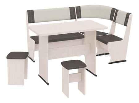 Купить Мебель Трия Челси Т1 дуб белфорт/лён бежевый/лён коричневый