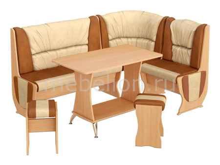Купить Мебель Трия Уголок кухонный Уют-5 Люкс бук/коричневый