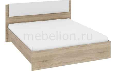 Купить Мебель Трия Кровать двуспальная Ларго СМ-181.01.001 дуб сонома/белый глянец