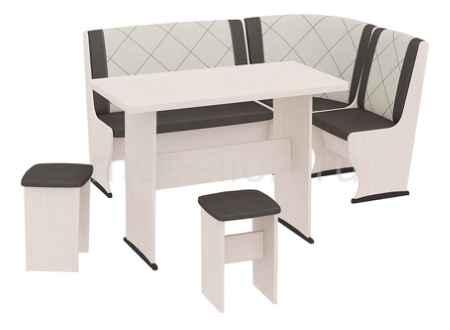 Купить Мебель Трия Челси Т2 дуб белфорт/лён бежевый/лён коричневый