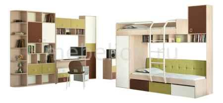 Купить Мебель Трия Гарнитур для детской Тетрис ГН-154.009 ясень белладжио/молочный/оливковый/шоколадный