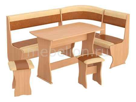 Купить Мебель Трия Уголок кухонный Уют-1 К Люкс бук/коричневый