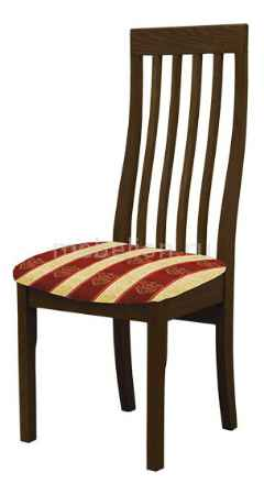 Купить Мебель Трия Стул Вагнер Т1 СМ-231.2.001 венге/бежевый в бордовую полоску