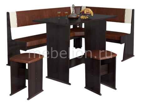 Купить Мебель Трия Уголок кухонный Амиго груша монтего/темно-коричневый/бежевый