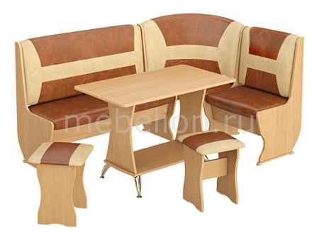 Купить Мебель Трия Уголок кухонный Уют-3 Люкс бук/коричневый