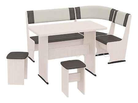Купить Мебель Трия Уголок кухонный Челси Т1 дуб белфорт/лён коричневый/лён бежевый