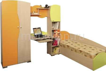 Купить Олимп-мебель Тони-1 дуб линдберг/зеленое яблоко/оранжевый