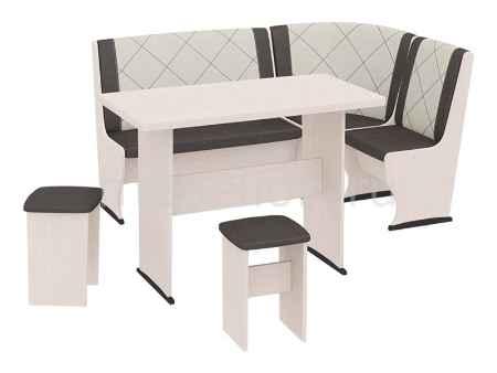 Купить Мебель Трия Уголок кухонный Челси Т2 дуб белфорт/лён коричневый/лён бежевый