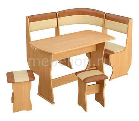 Купить Мебель Трия Уголок кухонный Уют-1 К Мини люкс бук/коричневый