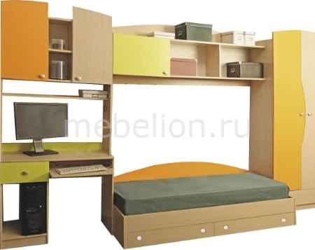 Купить Олимп-мебель Тони-2 дуб линдберг/зеленое яблоко/оранжевый