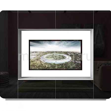Купить ВасКо Стенка для гостиной Купертино ВТ 1053 белый/чёрно-белый глянец