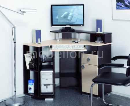 Купить Олимп-мебель Стол компьютерный Костер-7 универсальный венге - клен светлый
