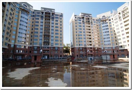 Жилые комплексы на окраинах города