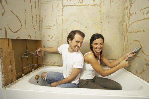 как сделать ремонт в ваннной