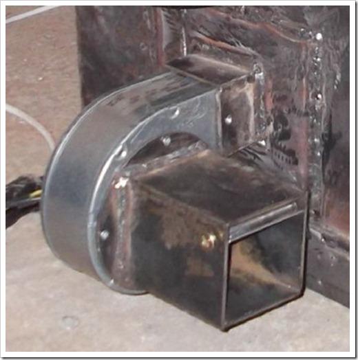 Сборка воздуходувки для твердотопливного котла отопления
