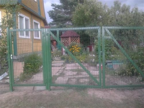 ворота на даче