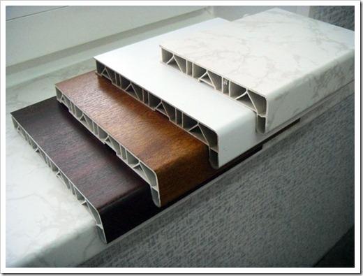 Различные материалы, используемые для подоконников
