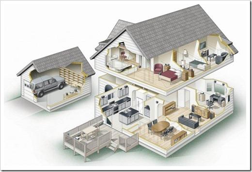 Расчёт строительного материала и составные части проекта дома