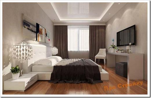 Каким образом в спальне используется освещение?