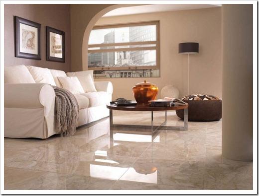 Почему керамическая плитка уместна для использования в гостиной?