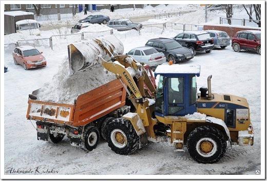Как осуществляется процесс переработки снега?