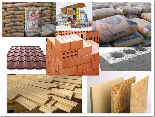 Различные группы строительных материалов