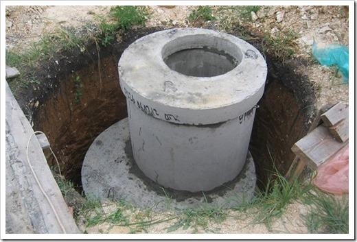 Как организован септик из бетонных колец на двух ёмкостях?