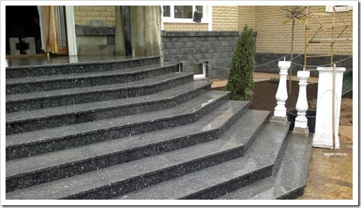 Преимущества гранитных ступеней