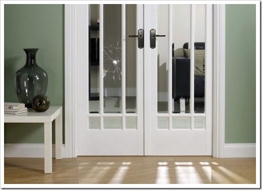 Типы применяемых стёкол в межкомнатных дверях